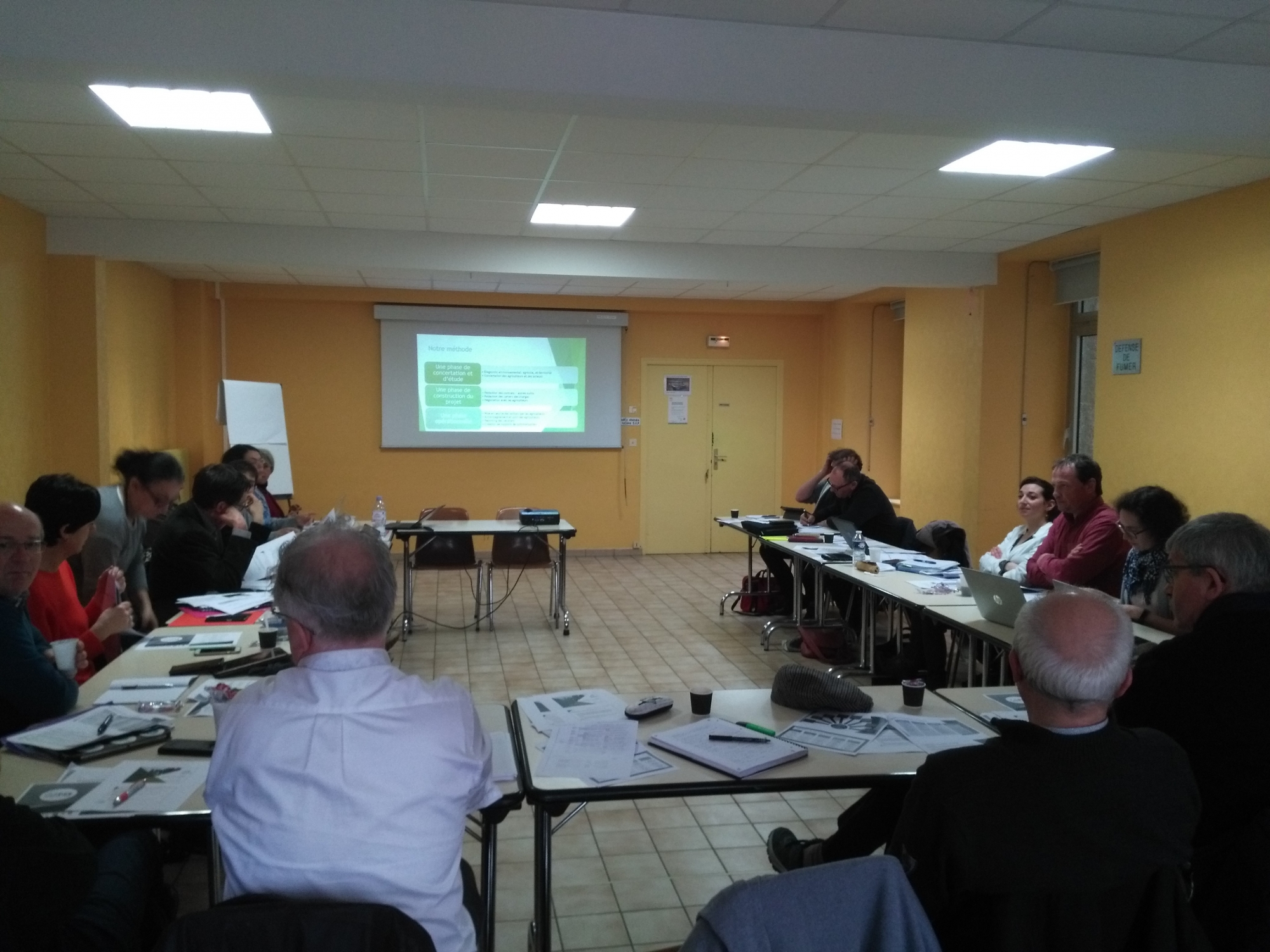 Participation of the Interreg CPES partners in the Environment Committee of the Brittany Chamber of Agriculture's session on PES