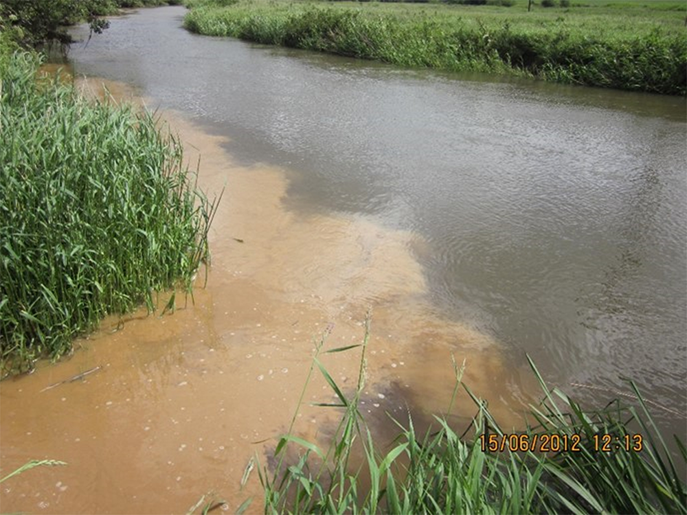 Sediments in the River Rother