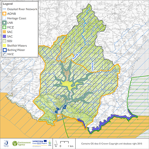 Drivers areas in the catchment